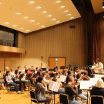 rehearsal with Cayuga Chamber Orchestra, Ithaca 2014 , US